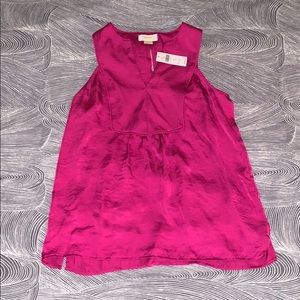 Pink Tank Top Silky Blouse